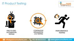 IT Product Testing/QA Consulting Gaian Consultants has acquired deep expertise in testing high-performance web applications. We ensure  that your product releases are of superior quality and are delivered on time using automated and  manual testing. Our expertise lies in providing end to end automation testing, continuous integration  testing and performance testing.