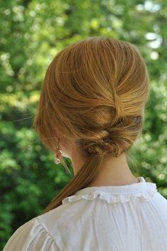 Zopf Andeutung in den Haarwurzeln