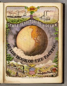 Illus. Title Page: State, territorial and ocean guide book of the Pacific.; Holdredge, Sterling M.; 1866; Guide Book