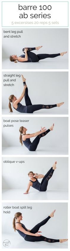 best barre exercises for flat abs - barre 100 ab series  | Posted By: AdvancedWeightLossTips.com
