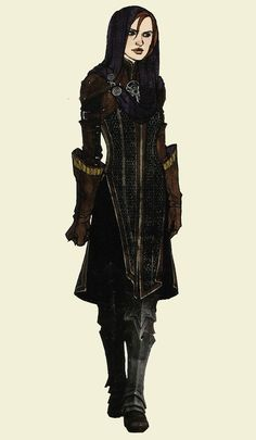 """Leliana concept art in """"The Art of Dragon Age: Inquisition"""""""