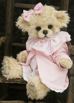 Pink Bow Teddy Bear