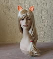 An Applejack (MLP:FiM) Cosplay mane with ears.  my wish list. i am think bout going to the party store, buying a bunch load of wigs, and doing stuffzzz with them.