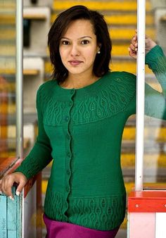 Зелёная кофточка Raheline