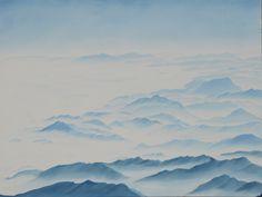 """""""Alpenflug"""" Öl auf Leinwand 120x160"""