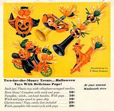 Vintahe Halloween Woolworth ad