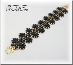 Bracelets, Bracelet Gissi Noir/Or est une création orginale de Vinjuleve sur DaWanda