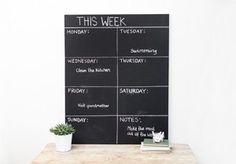 DIY – Week calendar with blackboard paint