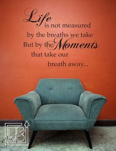 Wall Decal Quote Life Moments - Vinyl Wall Decal - Wall Sticker. $26.00, via Etsy.