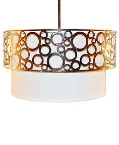 """Sharper Image Lighting, Chrome Drum Shade 16"""" Pendant - Ceiling Lighting - for the home - Macy's"""