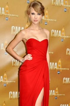 Strapless Chiffon inspired by Taylor Swift Worn at the 2010 Country Music Award's -- PromDressShop.com