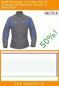 Roleff Racewear 7022 Reno RO 70i Chaqueta de Motorista, Tamaño S, Negro/Azul (Sports Apparel). Baja 50%! Precio actual 48,73 €, el precio anterior fue de 96,77 €. https://www.adquisitio.es/roleff-racewear/7022-reno-ro-70i-chaqueta