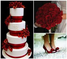 red and grey wedding | Red Wedding Theme http://www.mph.ie/2011/07/22/colour-your-day/