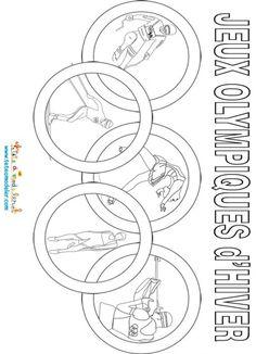 Anneaux olympiques d'hiver à colorier
