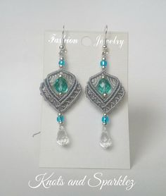 Dainty silver earrings, aquamarine earrings, dangle earrings, silver earrings…