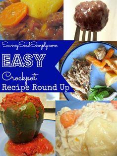 SavingSaidSimply.com - Easy Crockpot Recipe Round Up - My Top 5 Faves