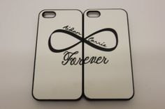 Omg I wish my man would use this case with me -_- But he wouldn't Lol!  Iphone 5 Couple Forever Infinity symbol set by LittleLots,