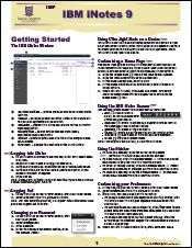 IBM iNotes 9 Quick Reference Guide