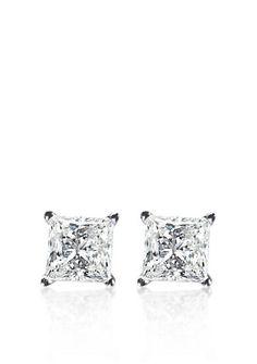 Belk & Co. 1 ct. t.w. Princess Cut Diamond Stud Earrings in 14k White Gold