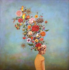 Mindful Garden: Duy Huynh artwork - selected archives from the Charlotte NC based, Vietnamese born artist. Poetic and contemplative acrylic paintings.