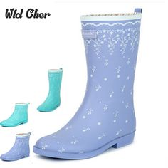 32.45$  Watch now  - New Arrival 2 Style 2017 Fashion Women's Short Rain Boots,Girl's Waterproof Wellies Boots Brand Rain Shoes 35-40