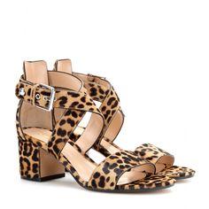 mytheresa.com - Sandali in cavallino animalier - Tacco medio - Sandali - scarpe - Luxury Fashion for Women / Designer clothing, shoes, bags
