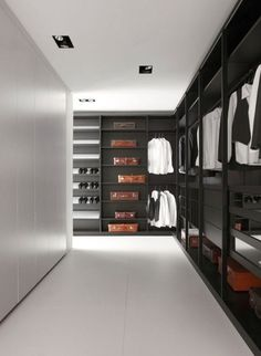 closet Closet Walk-in, Dressing Room Closet, Men Closet, Closet Bedroom, Dressing Rooms, Closet Ideas, Master Closet, Dressing Area, Closet Space
