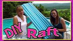 Make your own raft out of noodle floats. The kids will love this pool toy. It is durable and fun to play with. Check it out.