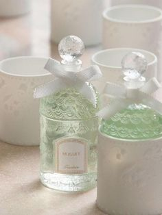 ♔ Guerlain - Limited Edition called Muguet - a Floral Green fragrance for women. This is a new fragrance. Muguet 2014 was launched in 2014. Top note is bergamot; middle notes are lily-of-the-valley, jasmine, rose and green notes; base note is musk.