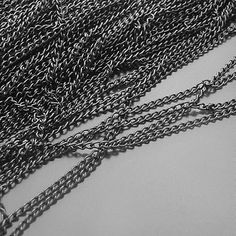 Gunmetal Plated Iron Chain O-Shape Handmade Chains Gunmetal Chain Necklace Metal Chain 16ft (5m) 1.5mm LTQH006. $3.49, via Etsy.