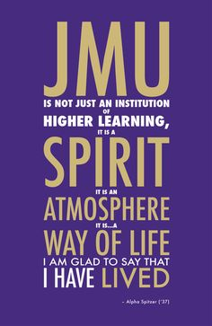 """JMU: A Way of Life"" Print I still have so much love for James Madison University! A Way Of Life, My Life, James Madison University, Life Poster, I School, School Stuff, Quotable Quotes, Make Me Happy, Inspire Me"