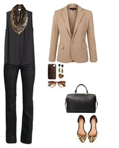 women business casual blazer with scarf - Google Search
