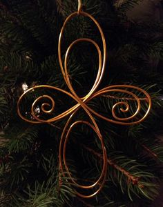 Wire cross Christmas ornament by WiredWeddings on Etsy, $20.00