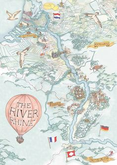 Rhine / Viking River Cruises - Illustrated Maps