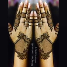 When the festival is about Goddess it calls for mehendi designs. We here have 15 Rajasthani full hand mehendi designs which will blow your mind. Khafif Mehndi Design, Arabic Henna Designs, Latest Bridal Mehndi Designs, Full Hand Mehndi Designs, Mehndi Designs Book, Mehndi Designs For Beginners, Mehndi Design Photos, Beautiful Henna Designs, Mehndi Designs For Fingers