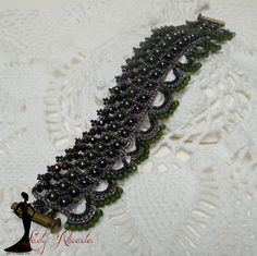 Bead Pattern Instructions Tutorial Avalon Bracelet & Earrings