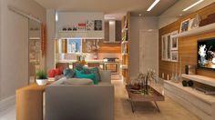 Living Room, Interior Design  Sala de Estar, Design de Interiores