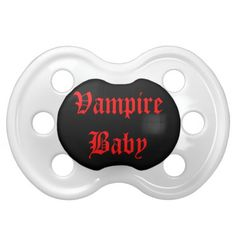 Vampire Baby Cute Goth Binkie Baby Pacifiers by Gothic Toggs