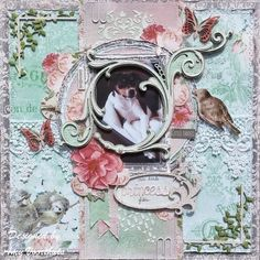ScrapPlezier: Our little Princess made by Amy Voorthuis. BoBunny's Madeleine collectie