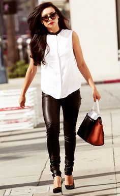 Naya Rivera - Love the blouse - not sure about the pants - looks good on her but not sure I could pull that off