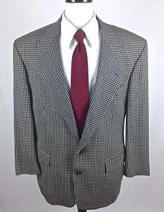 Givenchy Blazer Italy Black Houndstooth 2 Button Luxury Sport Coat Mens 44 R | eBay