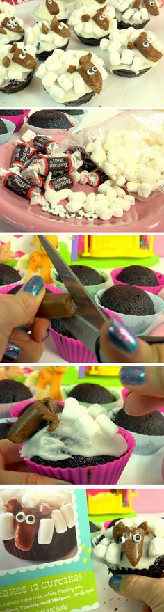Lambs Cupcakes | DIY Spring Treats for School Kids | Easy Easter Dessert Ideas for Kids to Make