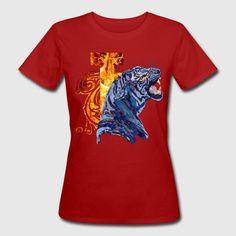 Tiger_in_Camouflage - Frauen Bio-T-Shirt
