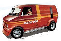 Bedford van Bedford England, Bedford Van, Car Illustration, Illustrations, Maserati, Raiders, Pick Up, Van Drawing, Astro Van
