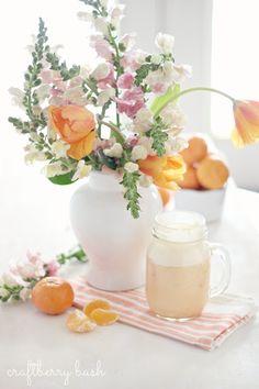 Healthy Mandarin orange cream smoothie