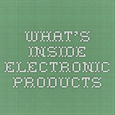What's Inside - Electronic Products