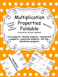 This is a foldable to help students when learning their properties of multiplication. Multiplication Properties, Math Properties, Teaching Multiplication, Teaching Math, Teaching Ideas, Math Worksheets, Math Resources, Math Activities, Cursive