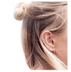 TOP KNOT & EAR RINGS