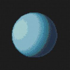 Uranus Cross Stitch Pattern PDF  Planet Solar by EasyStitchForFun