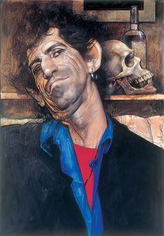 Keith Richards by Sebastian Kruger